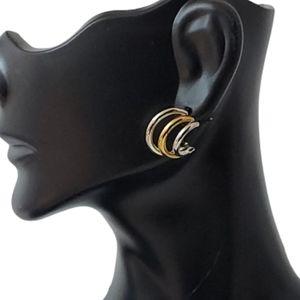 E1702 Minimalist Triple Open Hoop Earrings